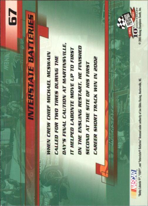 2003-Press-Pass-Trackside-Racing-Card-Pick thumbnail 135