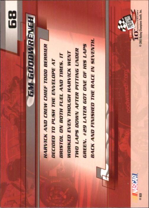 2003-Press-Pass-Trackside-Racing-Card-Pick thumbnail 137