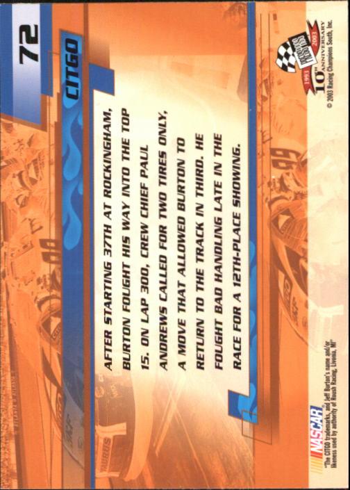 2003-Press-Pass-Trackside-Racing-Card-Pick thumbnail 145