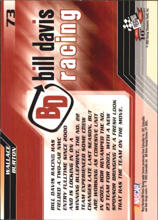 2003-Press-Pass-Trackside-Racing-Card-Pick thumbnail 147