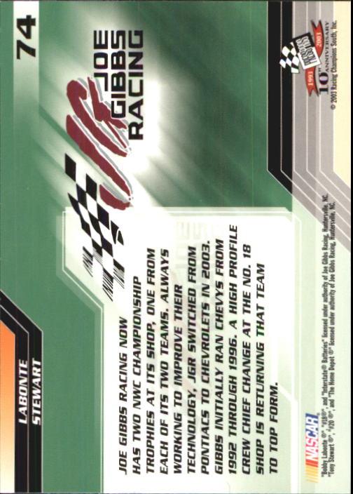 2003-Press-Pass-Trackside-Racing-Card-Pick thumbnail 149