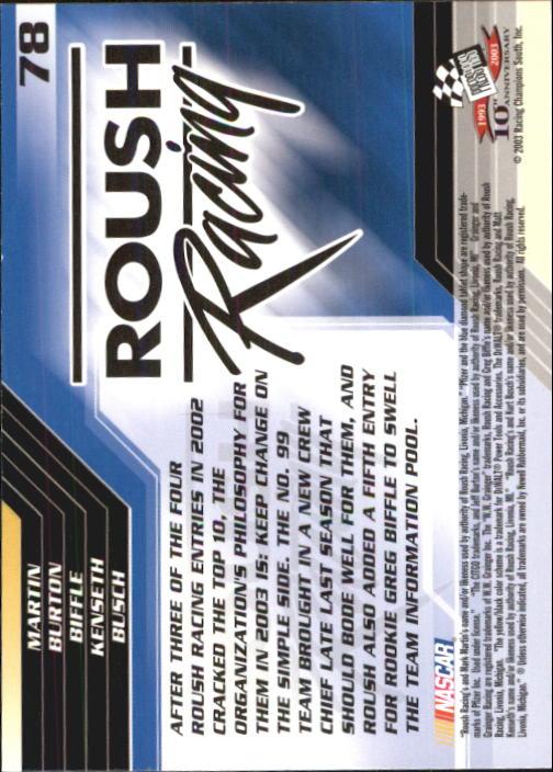 2003-Press-Pass-Trackside-Racing-Card-Pick thumbnail 157