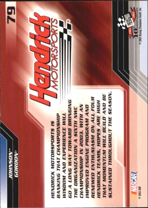 2003-Press-Pass-Trackside-Racing-Card-Pick thumbnail 159