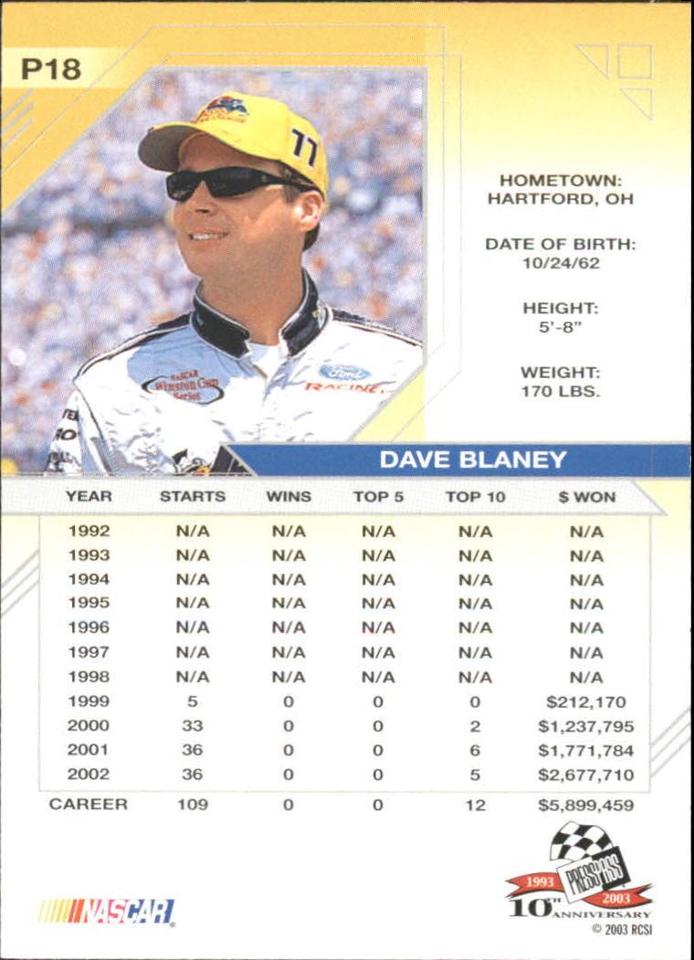 2003-Press-Pass-Eclipse-Solar-Eclipse-Racing-Card-Pick