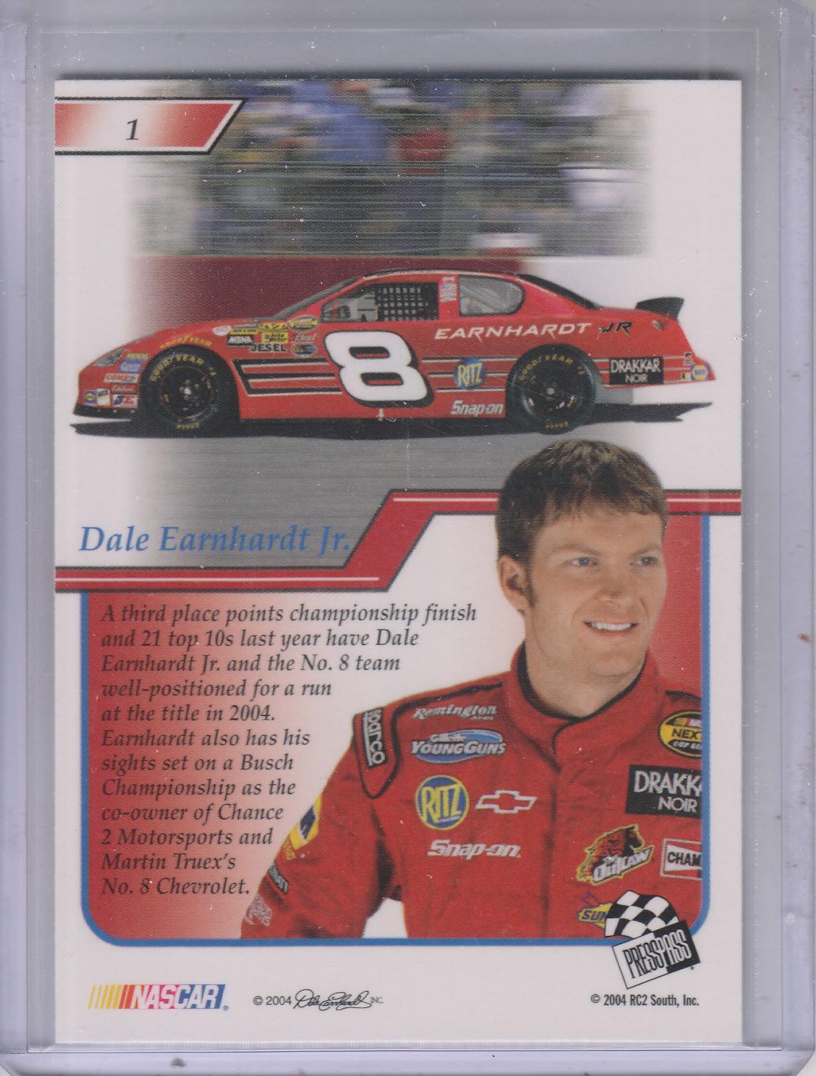 2004-Press-Pass-Premium-Racing-Card-Pick thumbnail 3