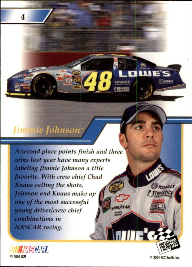2004-Press-Pass-Premium-Racing-Card-Pick thumbnail 9