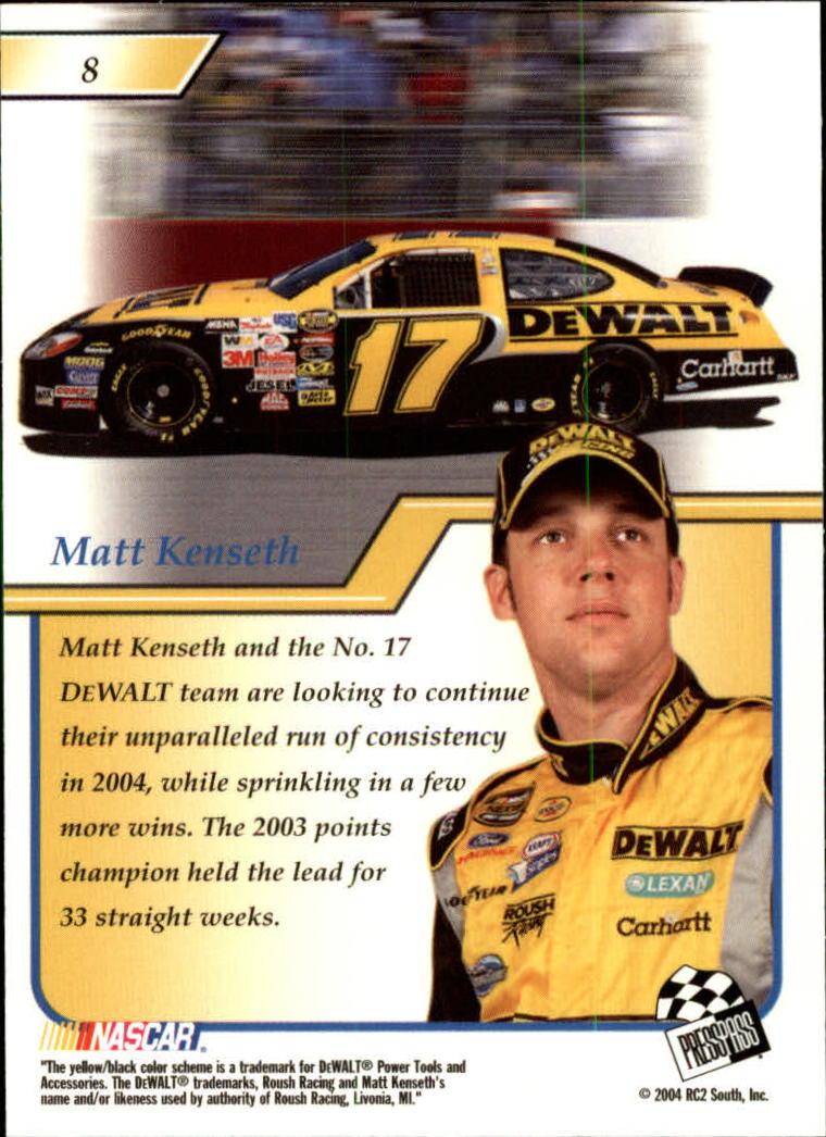 2004-Press-Pass-Premium-Racing-Card-Pick thumbnail 17