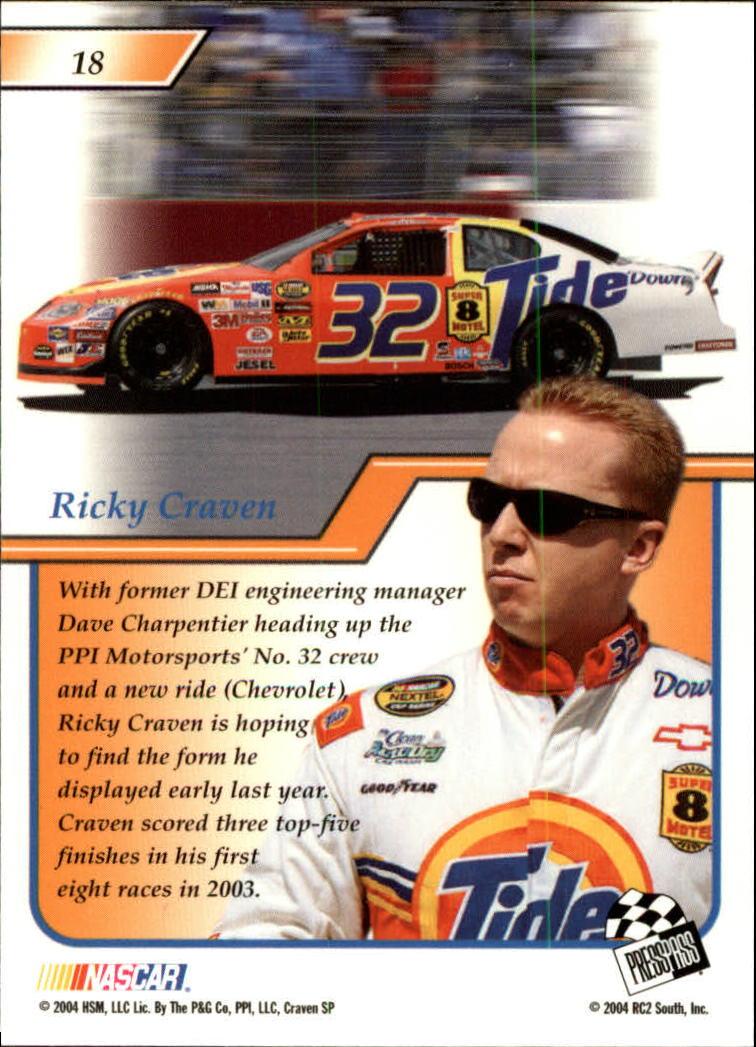 2004-Press-Pass-Premium-Racing-Card-Pick thumbnail 37