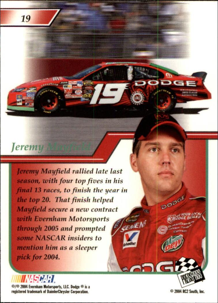 2004-Press-Pass-Premium-Racing-Card-Pick thumbnail 39