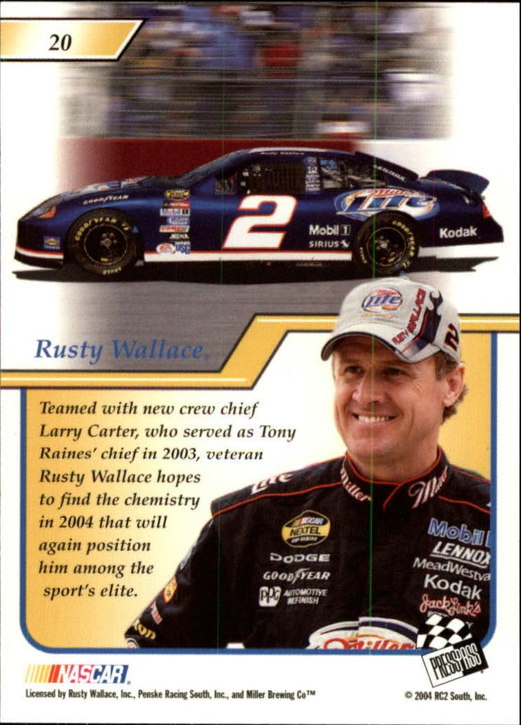 2004-Press-Pass-Premium-Racing-Card-Pick thumbnail 41