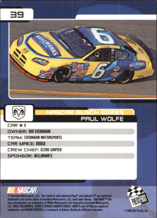 2005-Press-Pass-Trackside-Racing-Card-Pick thumbnail 51
