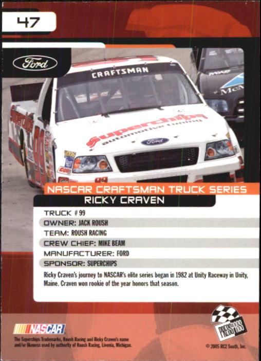 2005-Press-Pass-Trackside-Racing-Card-Pick thumbnail 61