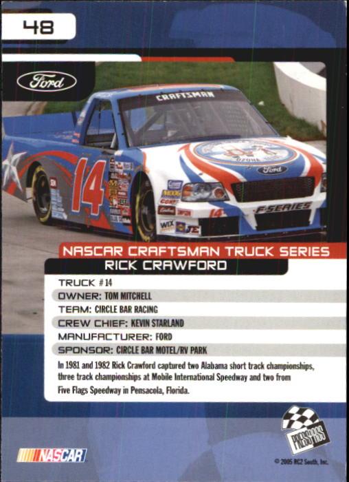 2005-Press-Pass-Trackside-Racing-Card-Pick thumbnail 63