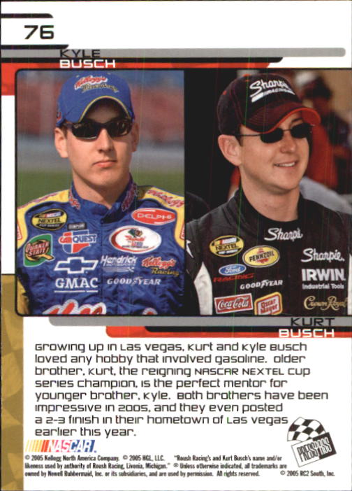 2005-Press-Pass-Trackside-Racing-Card-Pick thumbnail 115