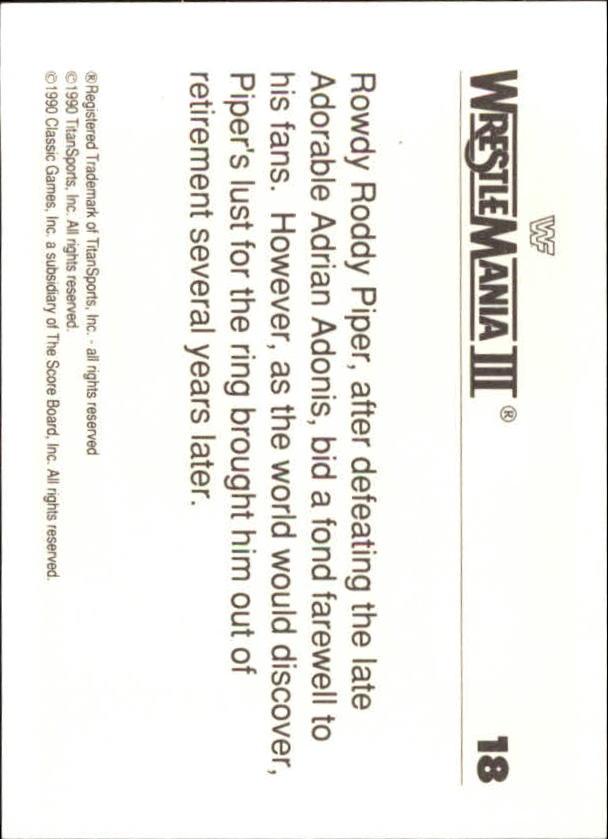 1990-Classic-WWF-History-of-WrestleMania-A3974-You-Pick-10-FREE-SHIP thumbnail 25