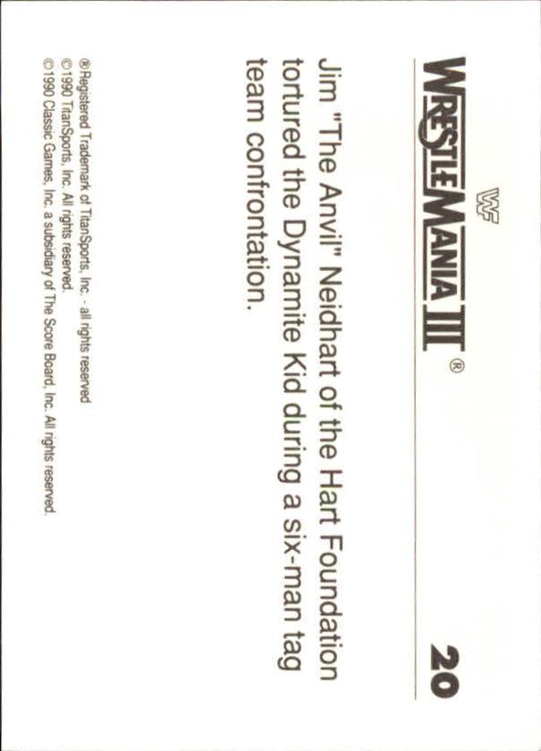 1990-Classic-WWF-History-of-WrestleMania-A3974-You-Pick-10-FREE-SHIP thumbnail 27
