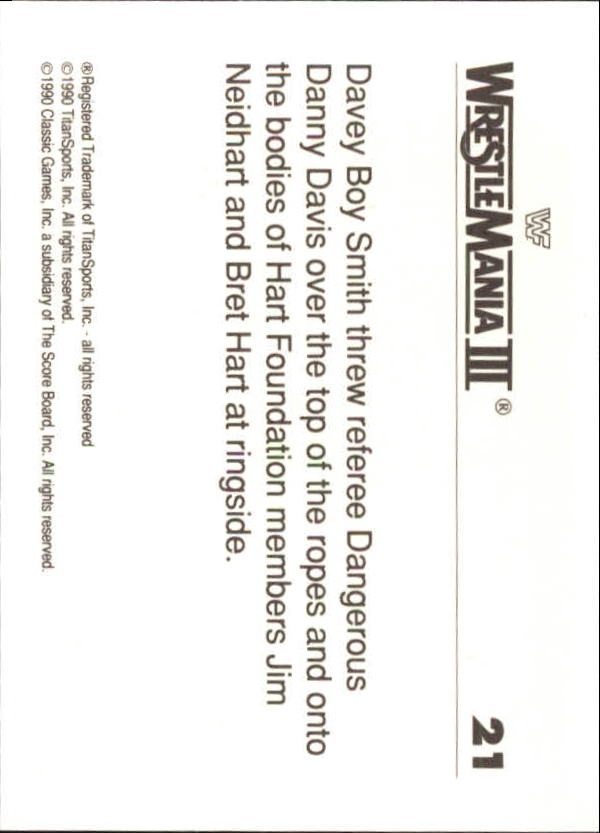 1990-Classic-WWF-History-of-WrestleMania-A3974-You-Pick-10-FREE-SHIP thumbnail 29