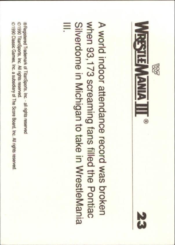 1990-Classic-WWF-History-of-WrestleMania-A3974-You-Pick-10-FREE-SHIP thumbnail 33