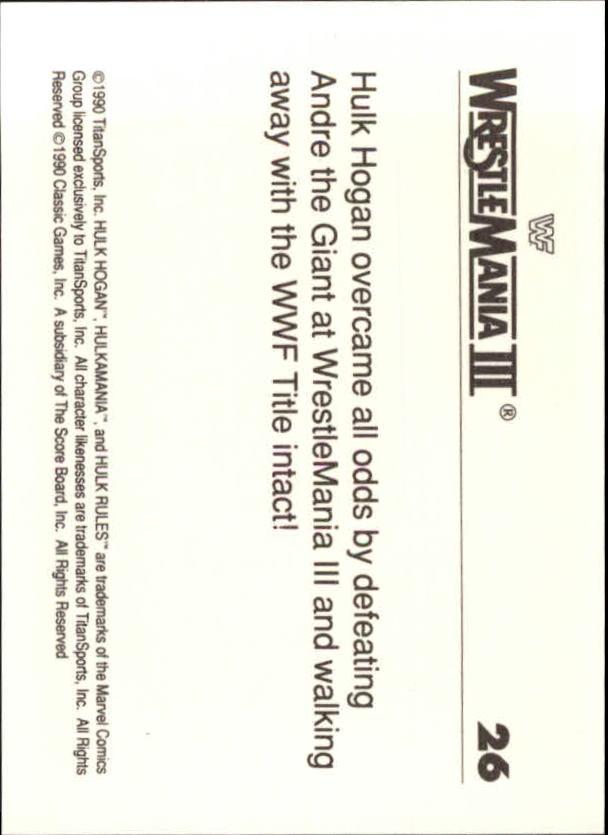 1990-Classic-WWF-History-of-WrestleMania-A3974-You-Pick-10-FREE-SHIP thumbnail 37