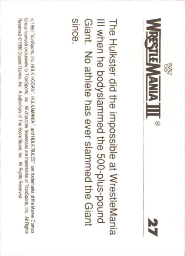 1990-Classic-WWF-History-of-WrestleMania-A3974-You-Pick-10-FREE-SHIP thumbnail 39