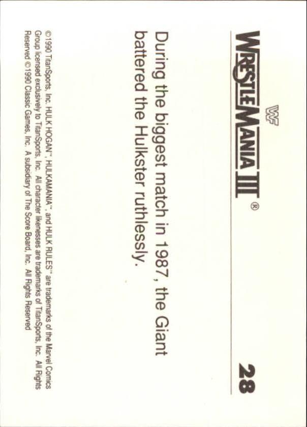 1990-Classic-WWF-History-of-WrestleMania-A3974-You-Pick-10-FREE-SHIP thumbnail 41