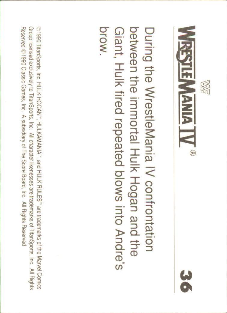 1990-Classic-WWF-History-of-WrestleMania-A3974-You-Pick-10-FREE-SHIP thumbnail 57