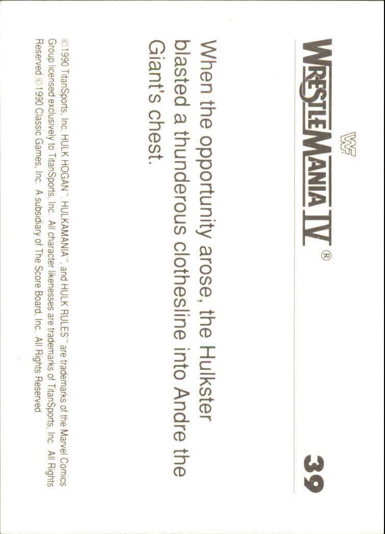 1990-Classic-WWF-History-of-WrestleMania-A3974-You-Pick-10-FREE-SHIP thumbnail 63