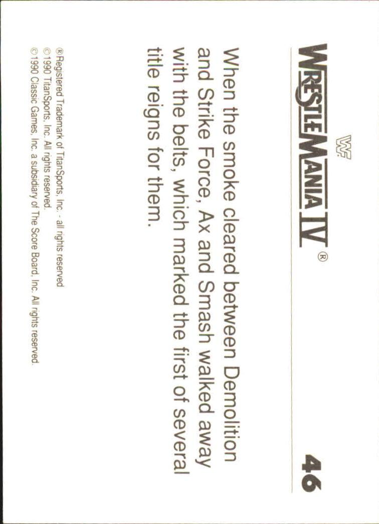 1990-Classic-WWF-History-of-WrestleMania-A3974-You-Pick-10-FREE-SHIP thumbnail 71