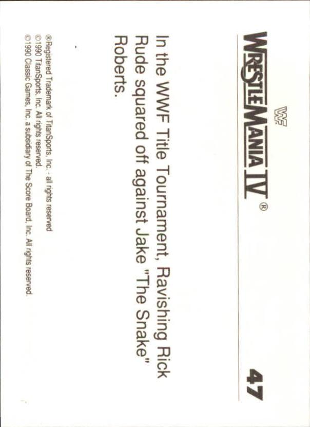 1990-Classic-WWF-History-of-WrestleMania-A3974-You-Pick-10-FREE-SHIP thumbnail 73