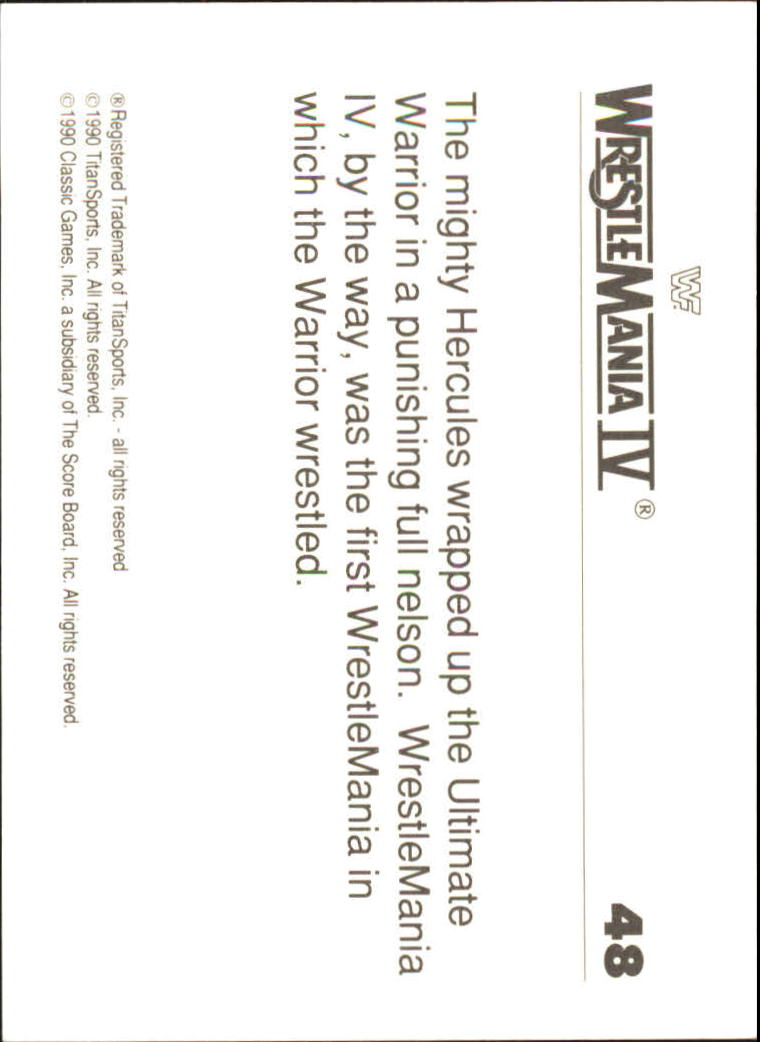 1990-Classic-WWF-History-of-WrestleMania-A3974-You-Pick-10-FREE-SHIP thumbnail 75