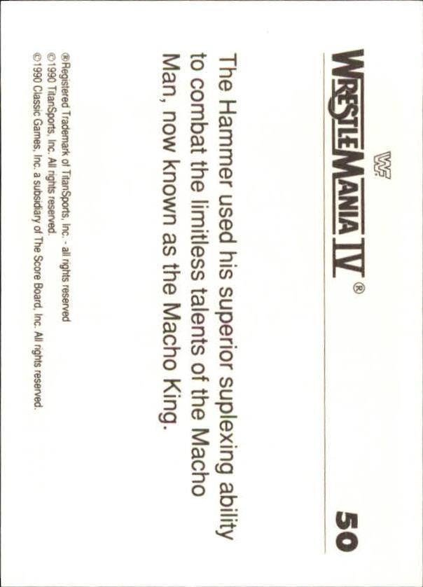 1990-Classic-WWF-History-of-WrestleMania-A3974-You-Pick-10-FREE-SHIP thumbnail 79