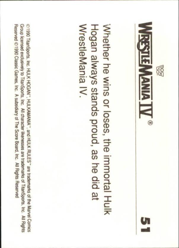 1990-Classic-WWF-History-of-WrestleMania-A3974-You-Pick-10-FREE-SHIP thumbnail 81
