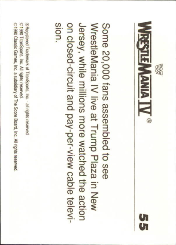 1990-Classic-WWF-History-of-WrestleMania-A3974-You-Pick-10-FREE-SHIP thumbnail 89
