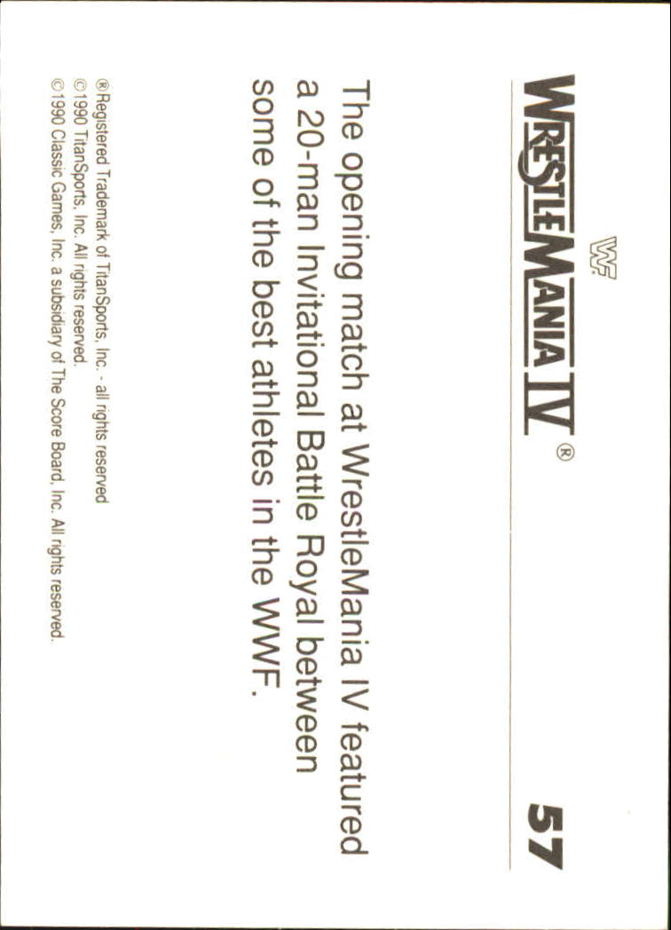 1990-Classic-WWF-History-of-WrestleMania-A3974-You-Pick-10-FREE-SHIP thumbnail 93