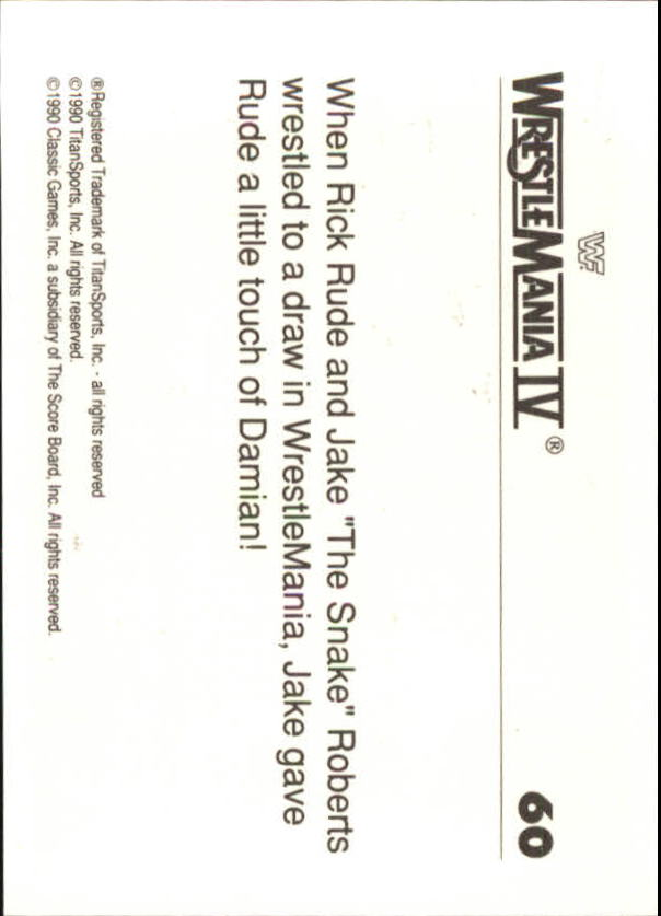 1990-Classic-WWF-History-of-WrestleMania-A3974-You-Pick-10-FREE-SHIP thumbnail 99