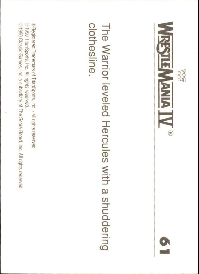 1990-Classic-WWF-History-of-WrestleMania-A3974-You-Pick-10-FREE-SHIP thumbnail 101