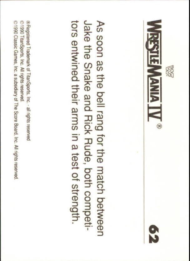 1990-Classic-WWF-History-of-WrestleMania-A3974-You-Pick-10-FREE-SHIP thumbnail 103