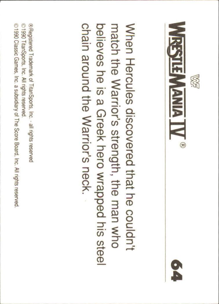 1990-Classic-WWF-History-of-WrestleMania-A3974-You-Pick-10-FREE-SHIP thumbnail 107