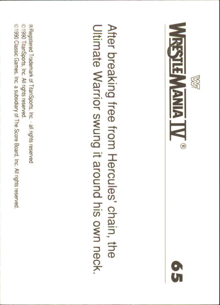 1990-Classic-WWF-History-of-WrestleMania-A3974-You-Pick-10-FREE-SHIP thumbnail 109