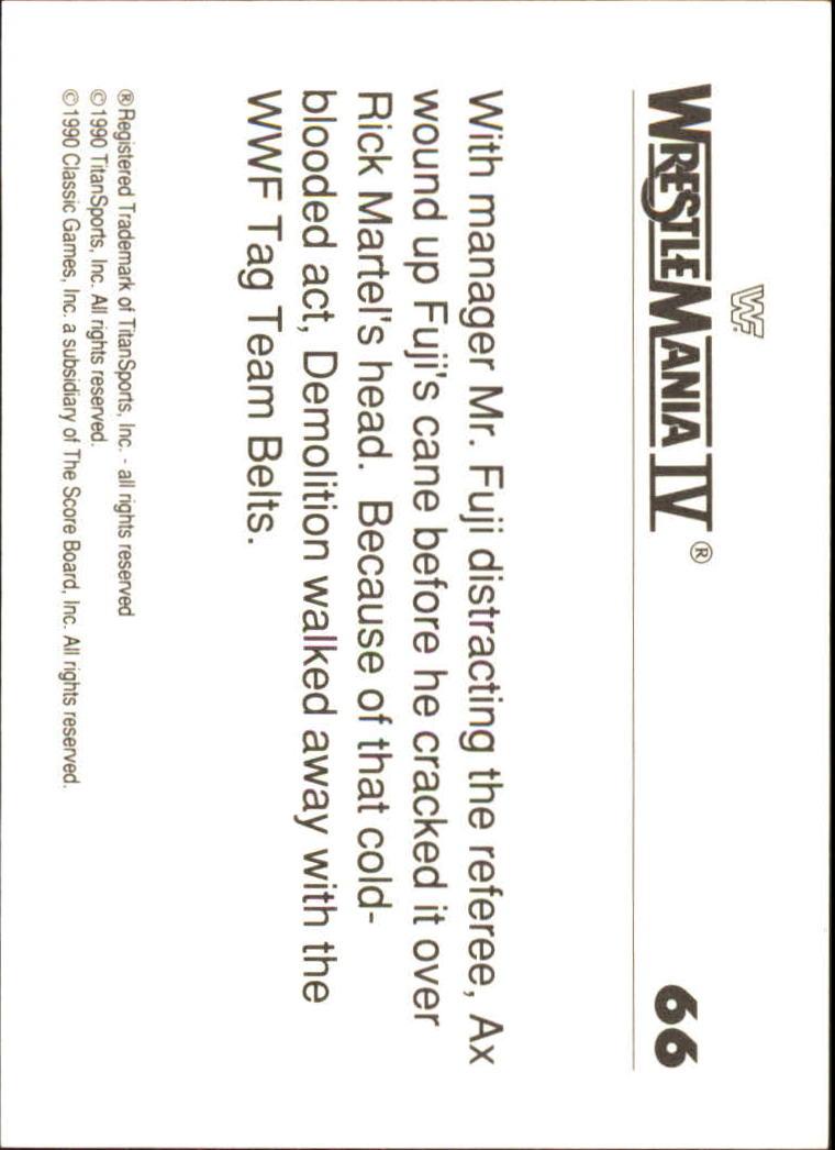 1990-Classic-WWF-History-of-WrestleMania-A3974-You-Pick-10-FREE-SHIP thumbnail 111