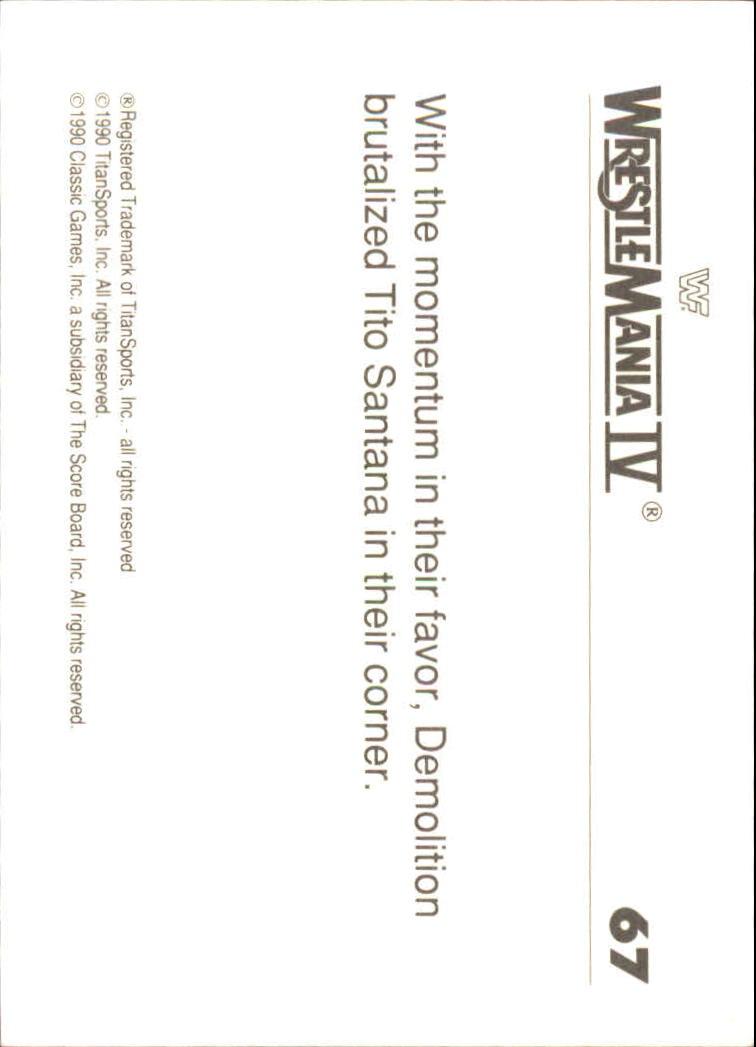 1990-Classic-WWF-History-of-WrestleMania-A3974-You-Pick-10-FREE-SHIP thumbnail 113
