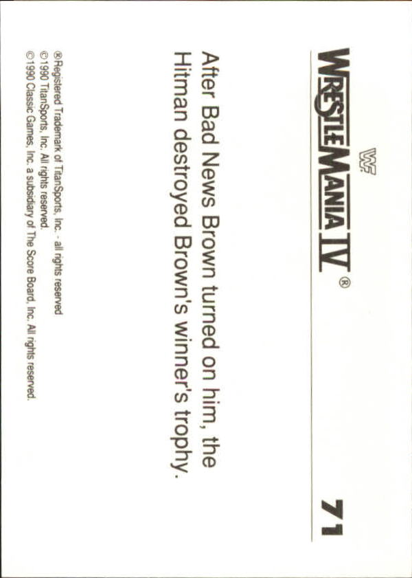 1990-Classic-WWF-History-of-WrestleMania-A3974-You-Pick-10-FREE-SHIP thumbnail 119