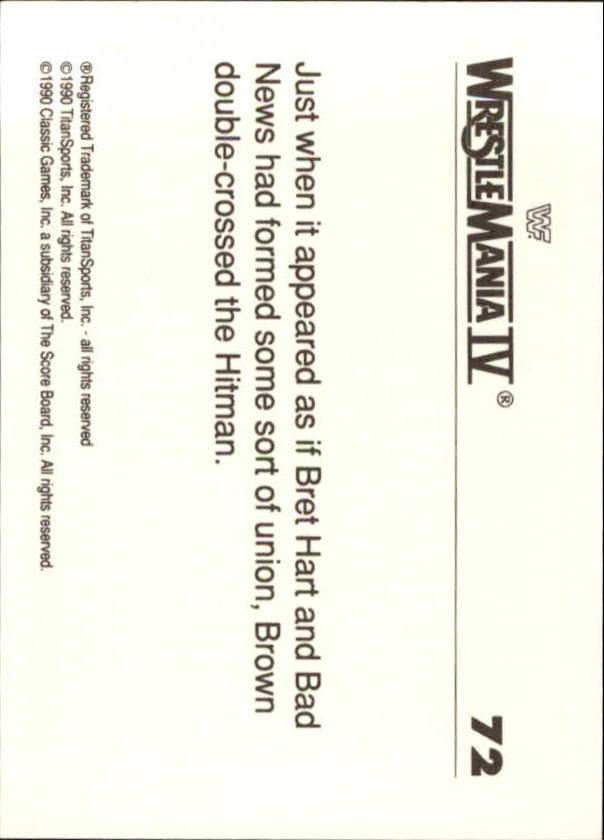 1990-Classic-WWF-History-of-WrestleMania-A3974-You-Pick-10-FREE-SHIP thumbnail 121
