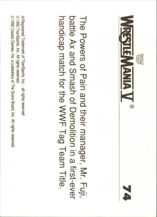 1990-Classic-WWF-History-of-WrestleMania-A3974-You-Pick-10-FREE-SHIP thumbnail 125