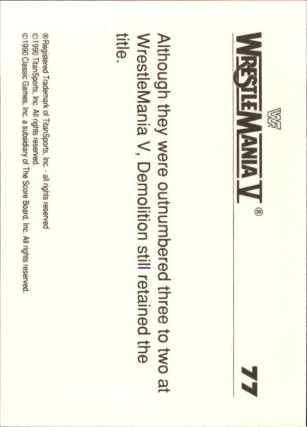 1990-Classic-WWF-History-of-WrestleMania-A3974-You-Pick-10-FREE-SHIP thumbnail 129