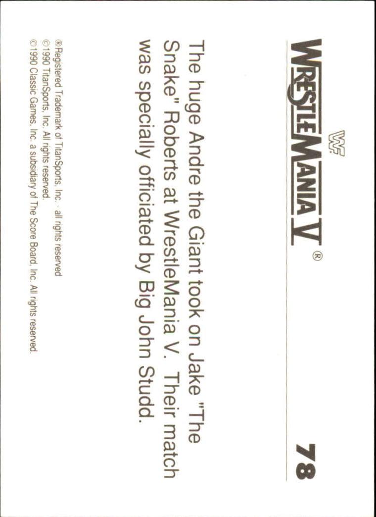 1990-Classic-WWF-History-of-WrestleMania-A3974-You-Pick-10-FREE-SHIP thumbnail 131