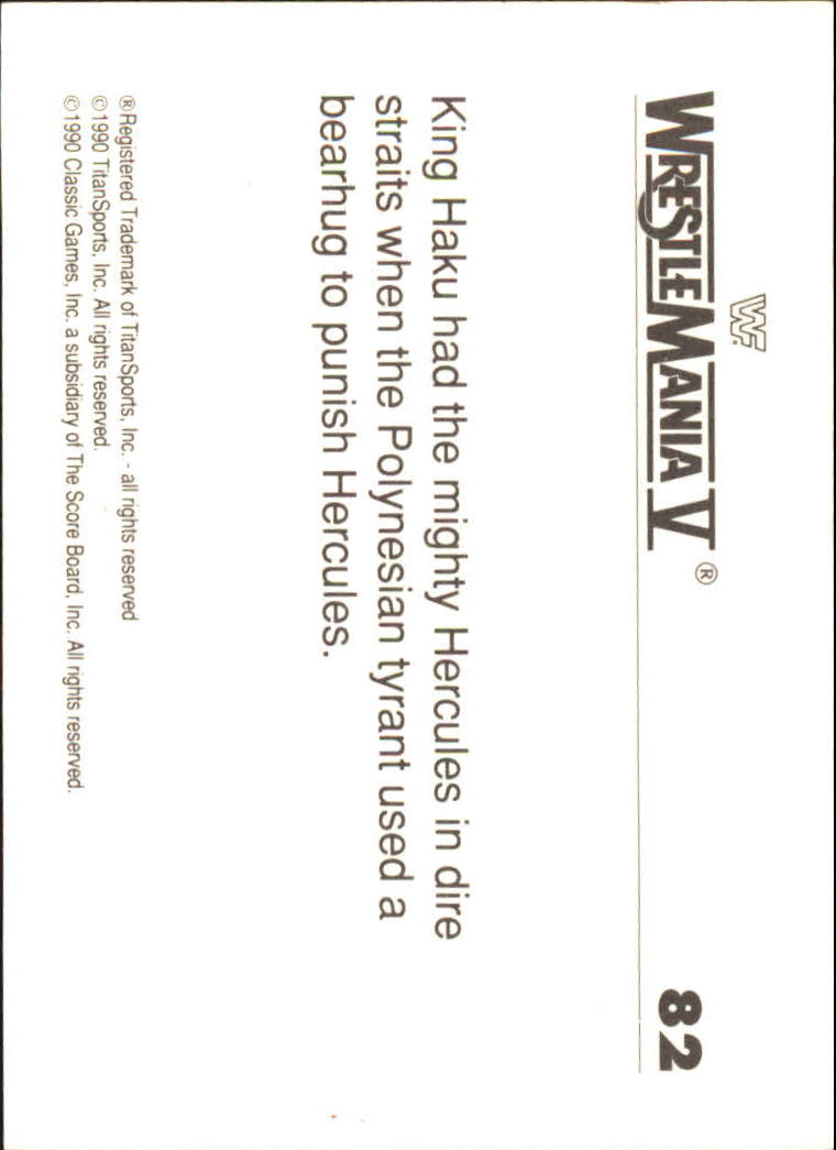 1990-Classic-WWF-History-of-WrestleMania-A3974-You-Pick-10-FREE-SHIP thumbnail 139