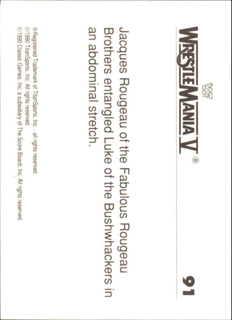 1990-Classic-WWF-History-of-WrestleMania-A3974-You-Pick-10-FREE-SHIP thumbnail 155