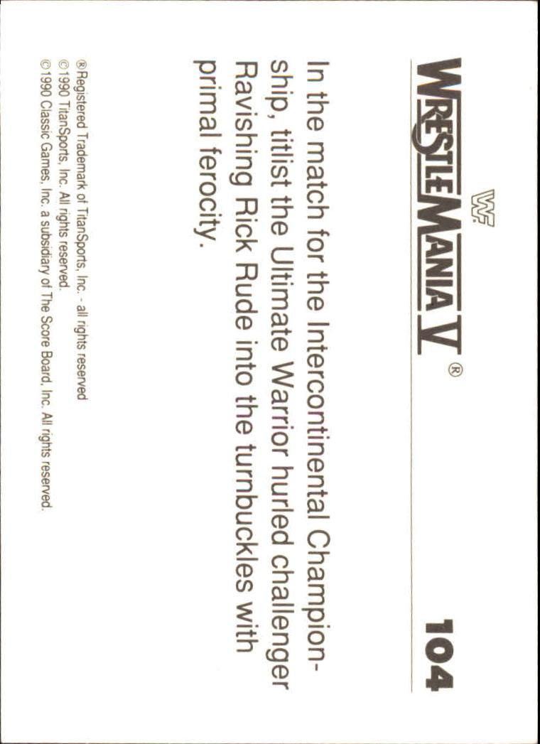 1990-Classic-WWF-History-of-WrestleMania-A3974-You-Pick-10-FREE-SHIP thumbnail 181