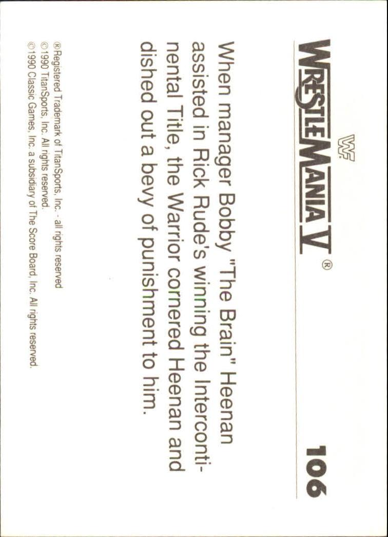 1990-Classic-WWF-History-of-WrestleMania-A3974-You-Pick-10-FREE-SHIP thumbnail 185